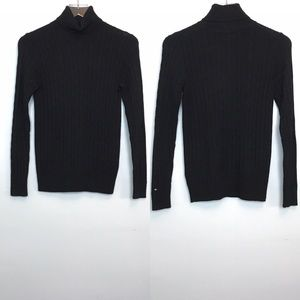 Tommy Hilfiger Cable Knit Turtleneck Sweater Sz S